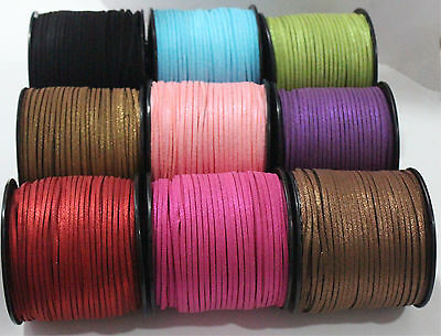3mm 10/100 yds DIY Craft Making Leather Cord Necklace Handmade Suede Thread Wire