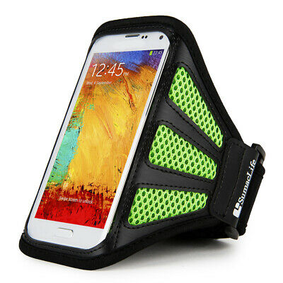 Black Mesh Sport Gym Jogging Armband For Samsung Galaxy S8 / S8 Active / S7 Edge