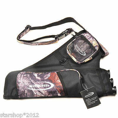 Outdoor Archery Bow Arrow Camo Holder Belt Quiver 3 Tubes for Hunting