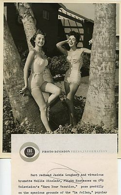 Jackie Loughery Mollie Sinclair Swimsuit Earn Your Vacation 1954 Cbs Tv Photo