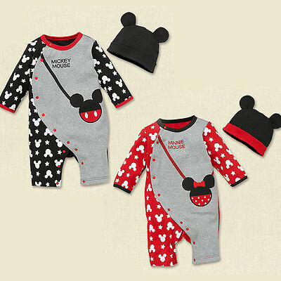 Baby Romper newborn bodysuit+hat Infant baby kids boys girls clothes spring suit