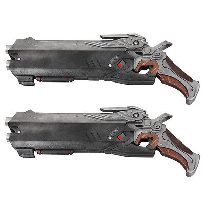 New Overwatch Reaper Double Guns Weapon Cosplay Props PVC ...