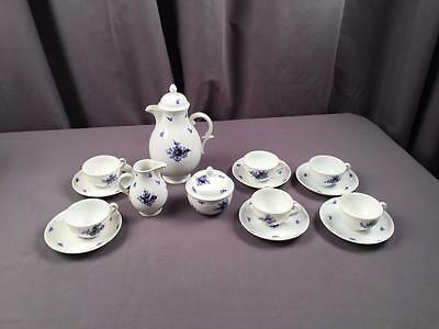 Antq Ca 1910 Nymphenburg Complete Coffee Demitasse Hand painted Floral Set