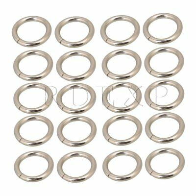 Silvery Metal O Ring O Shaped Buckle Set of 20