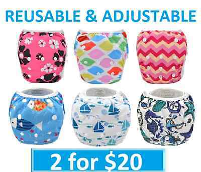 SWIM NAPPY Baby Reusable Multifit Newborn - Toddler Nappies Cover BOYS GIRLS