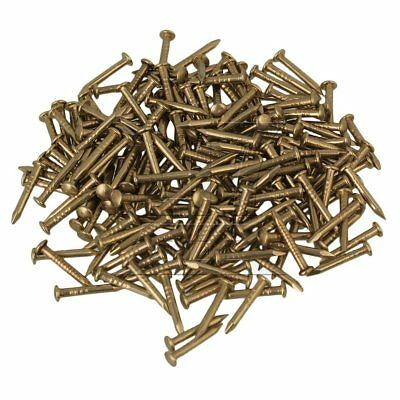 10mm Round Head Brass Antique Copper Furniture Miniature Nails Set of 100
