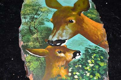 Antique/Vintage Black Forest Deer Handpainted Frame Peroid 1880 from Germany