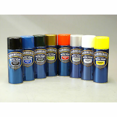 Hammerite Smooth Metal Aerosol All Colours Spray Paint 400 Ml