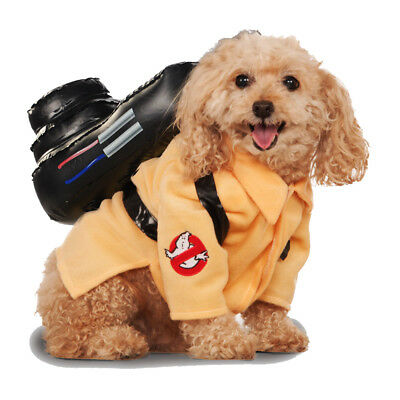 Pet Dog Ghostbusters Fancy Dress Costume Rubies Halloween Outfit S-XL