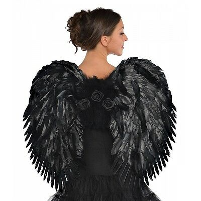 Deluxe Dark Angel Feather Wings Costume Accessory Adult Halloween