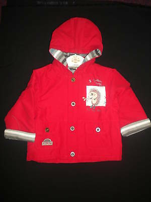 Baby Boy Jacket With Hood Age 6M-18M Red Style 4416 First Class Post