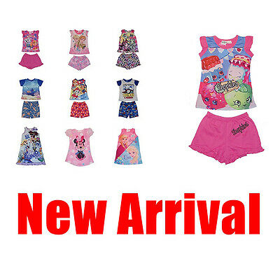 Kids Boys Girls Summer Short Sleeve PJ Pyjamas Nighties Sleepwear Outfit Set Sz