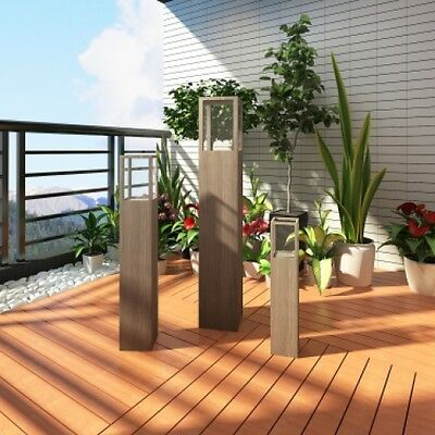 Garden Candle Stand Set 3pcs Holder Outdoor Lighting Torch Lantern Patio Balcony
