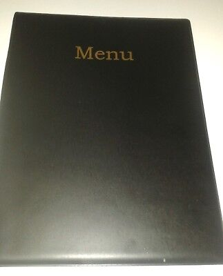 Qty 30 (Thirty) A4 Menu Holder/cover/folder In Black Leather Look Pvc
