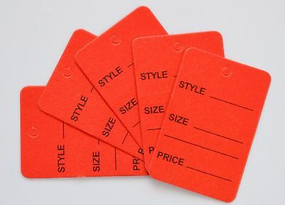 1000 Red Merchandise Price Jewelry Garment Store Paper Small Tags 4.5x2.5cm