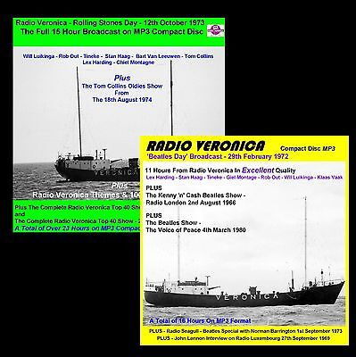 Pirate Radio Veronica Beatles Day & Rolling Stones Day on 2 CAR FRIENDLY MP3 CDs