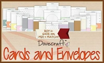 Dovecraft Scrapbooking Card Blanks + Envelopes Collection Dovecraft FULL RANGE