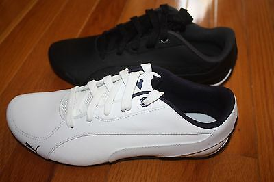 BRAND NEW IN Box PUMA Drift Cat 5 Leather Men s Shoes WHITE or BLACK 684c80543