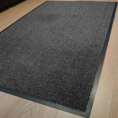 Heavy Duty Non Slip Rubber GREY Barrier Mats Rugs Back Door Hall Kitchen Floor