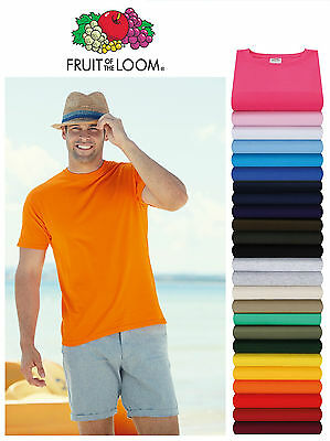 5 Pack Fruit Of The Loom 100% Cotton Valueweight T Shirt Plain Blank Tee Top New