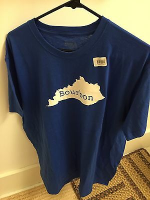 Kentucky BOURBON XL Royal Blue T Shirt NWT