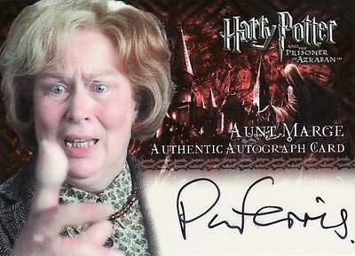 Harry Potter Prisoner of Azkaban Update Pam Ferris as Aunt Marge Auto Card