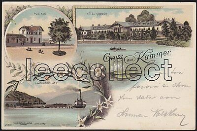 A O Kammer - Post - Schiff - Attersee - Litho - Schörfling