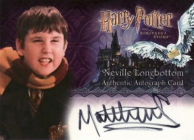 Harry Potter Sorcerers Sorcerer's Stone Matthew Lewis / Neville Auto Card