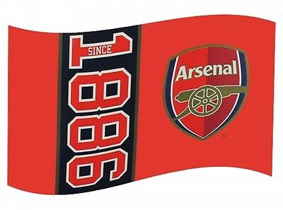 Arsenal FC Football Club Since 1886 Flag Style Red Supporter Fan Match Banner