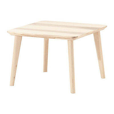 Natural Ikea Lisabo Coffee Table Ash Veneer 70x70 Cm