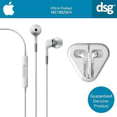 Genuine Apple ME In-Ear Headphones with Remote and Mic - White (ME186ZM/A)