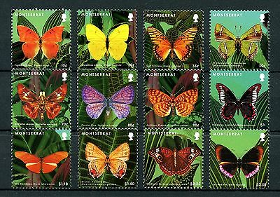 Montserrat 2013 MNH Butterflies Definitives I 12v Set Butterfly Insects Stamps