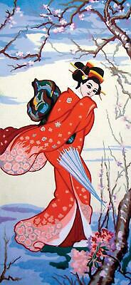 Grafitec Printed Tapestry/Needlepoint Canvas – Cherry Geisha