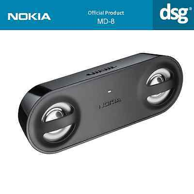 Genuine Nokia High Quality BLACK Speakers MD-8 NEW for ALL 3.5 Pin Audio Uses