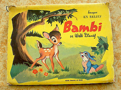 Album en Relief. Bambi. Disney. 1955