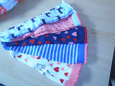 M&S Girls 5 Pairs of Cotton Rich multi coloured Socks (11+ Years) / (7-10 yrs)