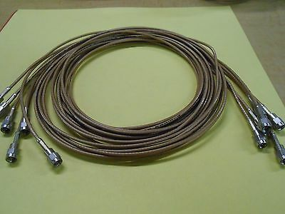 """Thermax RF Type SMC Ended Cables Quantity 6 -  72"""" Length M17/113 RGS316"""