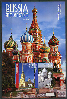 Palau 2014 MNH Russia Sites & Scenes Rossica 2v S/S Peter Paul Cathedral Stamps