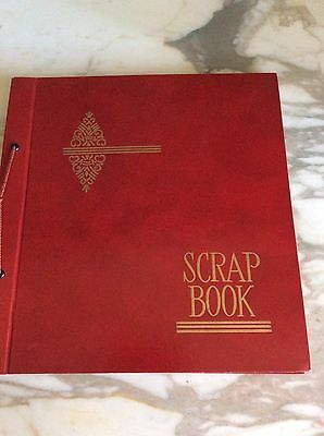 Vintage Red Tie Bound Springfield Scrap Book No. 6553 With Paper Pages