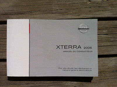 NISSAN Xterra 2006 - Owner's Manual - IN FRENCH - MINT