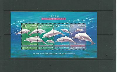 Hong Kong 1999 White Dolphins MS, SGMS999 mnh