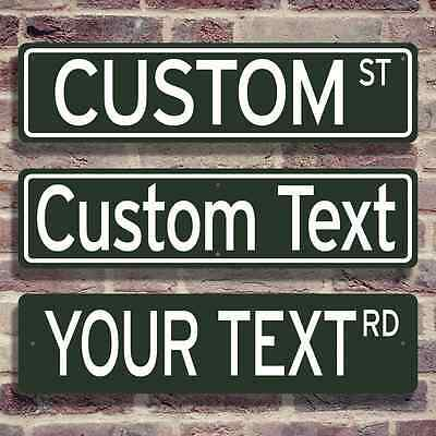 """CUSTOM STREET ROAD SIGN 6""""X24"""" Metal - Any Text Funny Man Cave Sports Real Decor"""