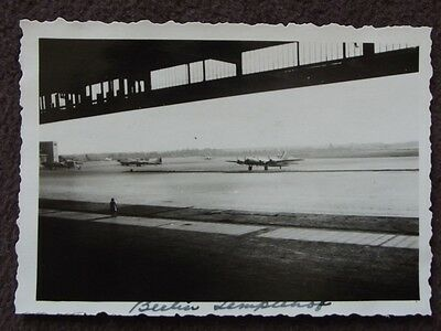 PLANES ON TARMAC AT BERLIN, GERMANY AIRPORT  VTG 1940's PHOTO