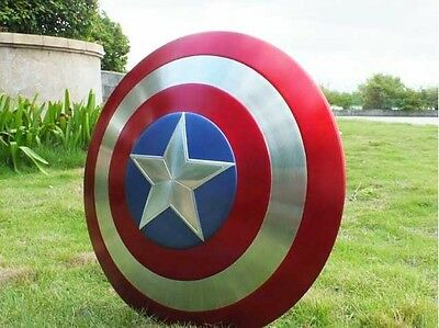 """1:1 Captain America Metal Shield The Avengers Cosplay Toys 22.44"""" Prop Model"""