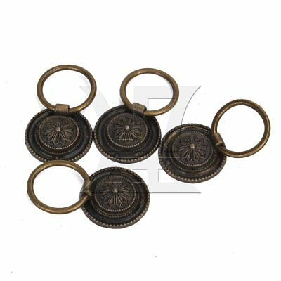 4pcs Drop Ring Pull Handle Knob Decor for Cupboard Cabinet Drawer