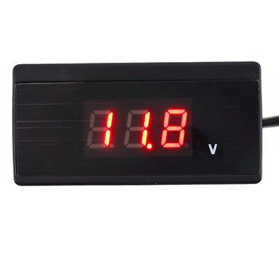 Auto Car Battery Mini Digital Voltmeter Thermometer Voltage Meter Volt Tester