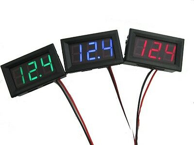 0.56'' Voltmeter Thermometer LED Digital DC 4.5V-30.0V Car Battery Volt Tester