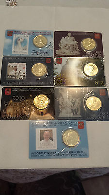 vaticano mix coin &stamp card  2010-11-12-13