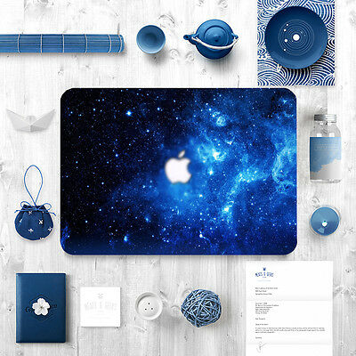 Galaxy Hard Shell Case Rubberized Keyboard cover for Macbook Air Pro 11 12 13 15