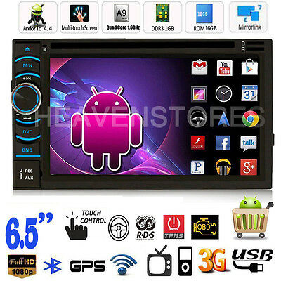 Android 4.4 Quad Core 3G WiFi GPS Navigation Double 2 Din Car Stereo DVD Player